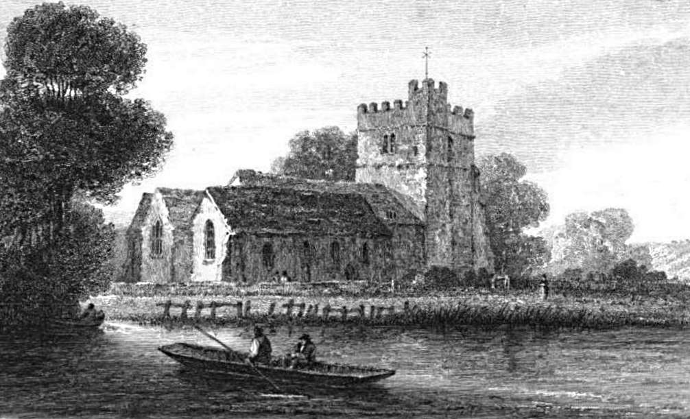 Cookham Church in Thames, Cooke & Owen 1811