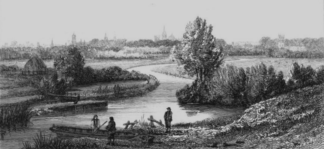 Iffley Lock and Oxford in Thames, Cooke & Owen 1811