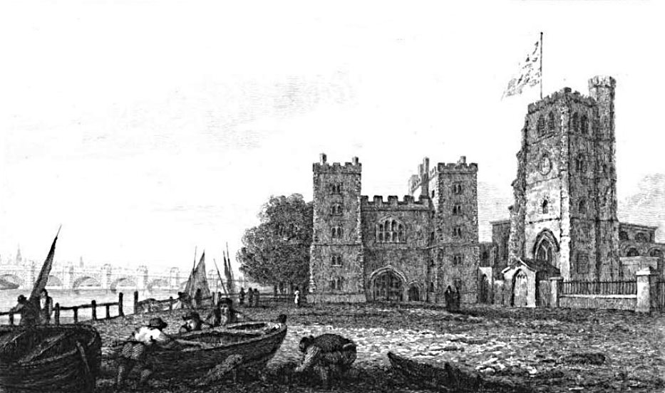 Lambeth Palace in Thames, Cooke & Owen 1811