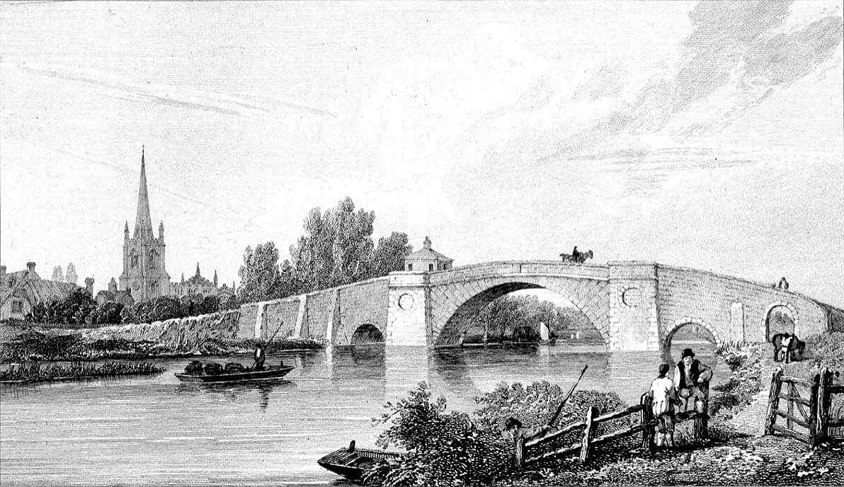 Lechlade Bridge in Thames by Cooke & Owen 1811
