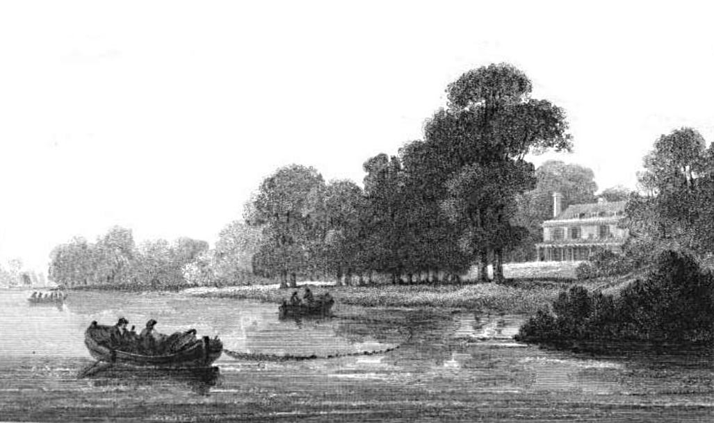 Marble Hill Cottage in Thames, Cooke & Owen 1811