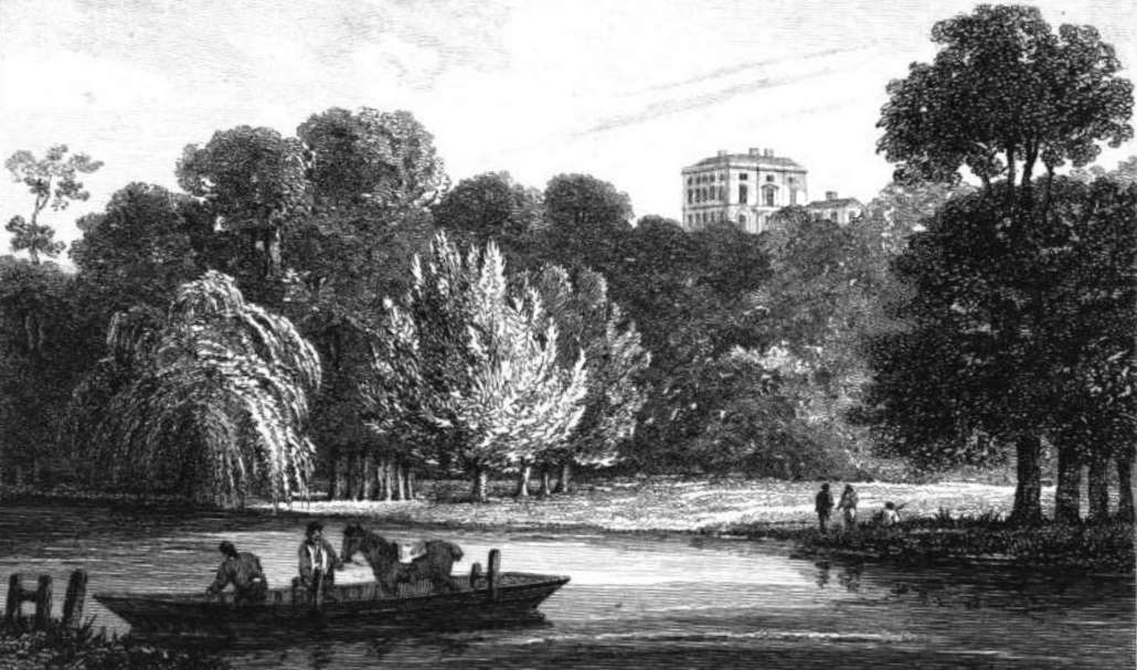 Purley Hall  in Thames, Cooke & Owen 1811