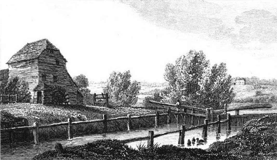 Shiplake Lock and Paper Mill and Wargrave House in Thames, Cooke & Owen 1811