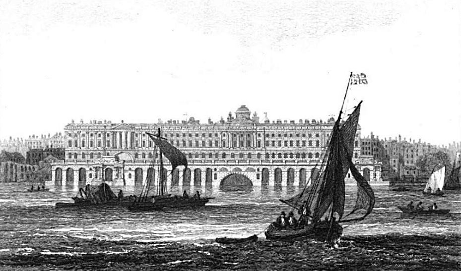 Somerset House in Thames, Cooke & Owen 1811