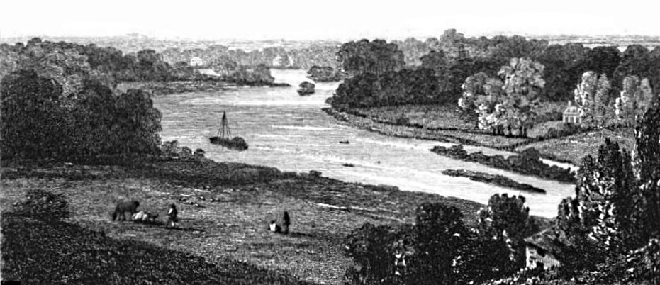 Thames From Richmond Hill in Thames, Cooke & Owen 1811