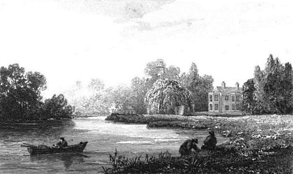The Willows, house above Windsor in Thames, Cooke & Owen 1811