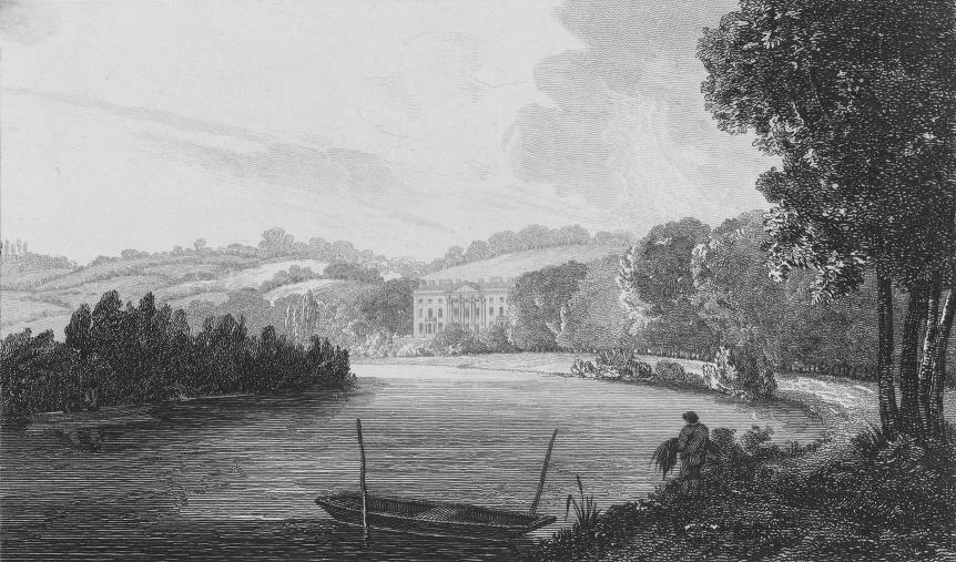 Beaumont Lodge in Thames, Cooke & Owen 1818