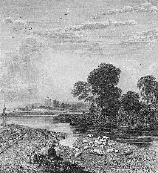 Bray seen from Maidenhead Bridge in Thames, Cooke & Cooke 1811