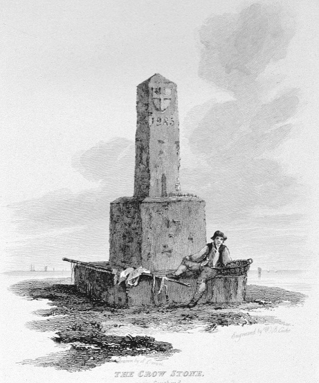 The Crowstone in Thames, Cooke & Owen 1818