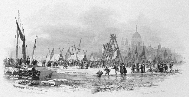 Frost Fair 1814 in Thames, Cooke & Clennell 1818