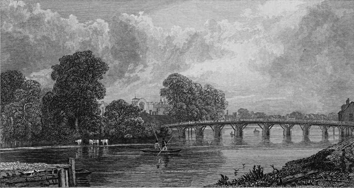 Hampton Court in Thames, Cooke & Cooke 1818