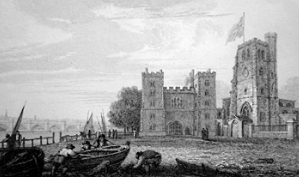 Lambeth Palace in Thames, Cooke & Owen 1818