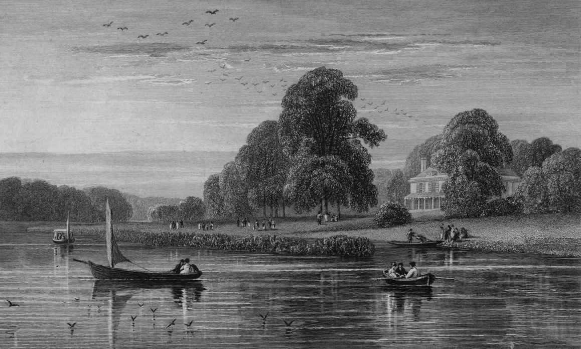 Marble Hill Cottage in Thames, Cooke Dewint 1818