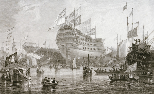 Launch of the Nelson in Thames, Cooke & Cooke 1818