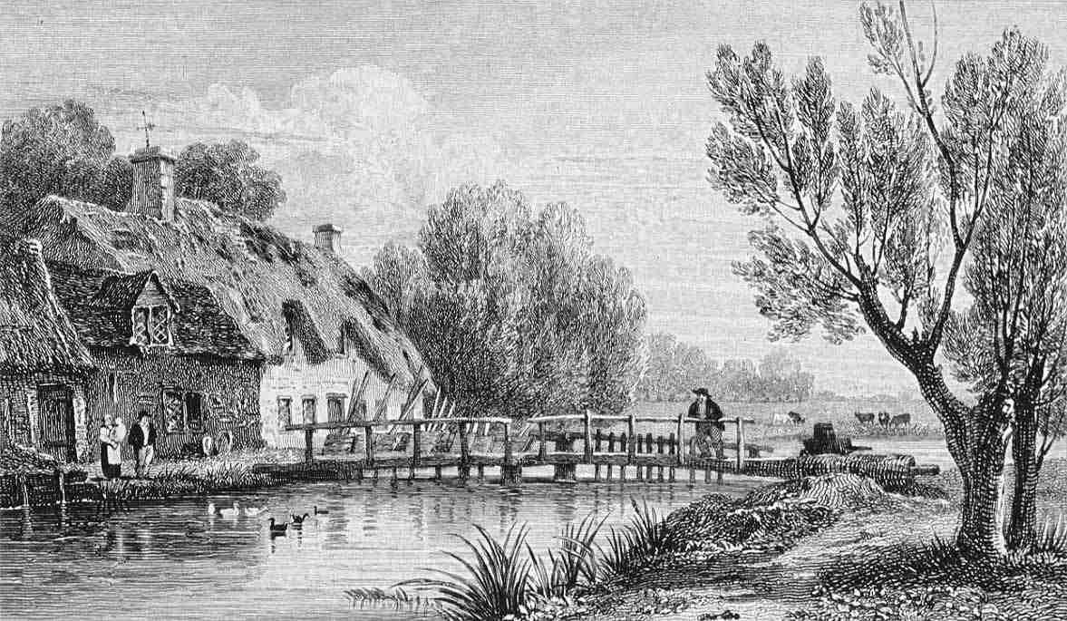 Radcot Weir in Thames by Cooke & Owen 1818