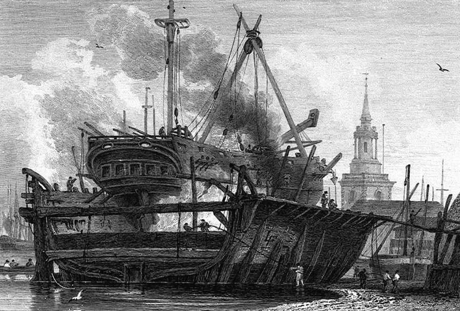 Rotherhithe floating Dock in Thames, Cooke & Owen 1811