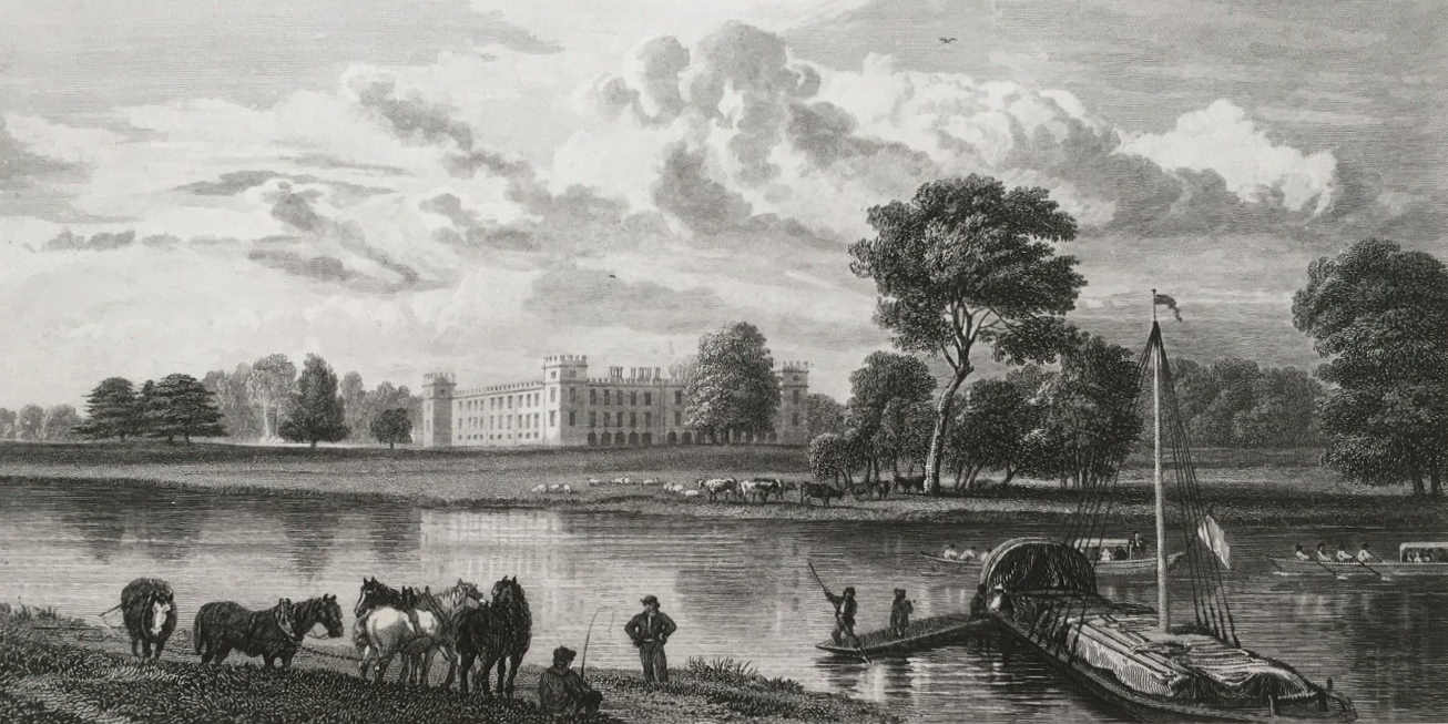 Sion House in Thames, Cooke Reinagle 1818