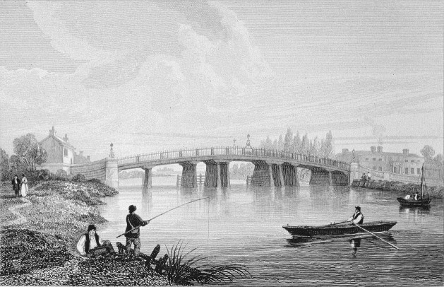 Staines Bridge in Thames, Cooke & Owen 1818