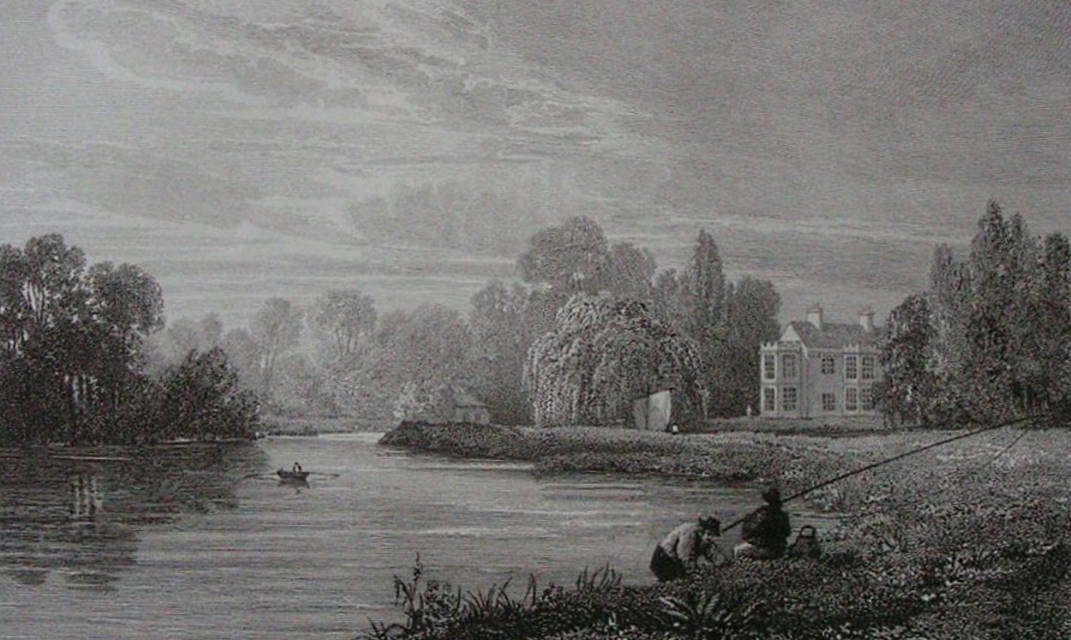 The Willows, house above Windsor in Thames, Cooke & Owen 1818