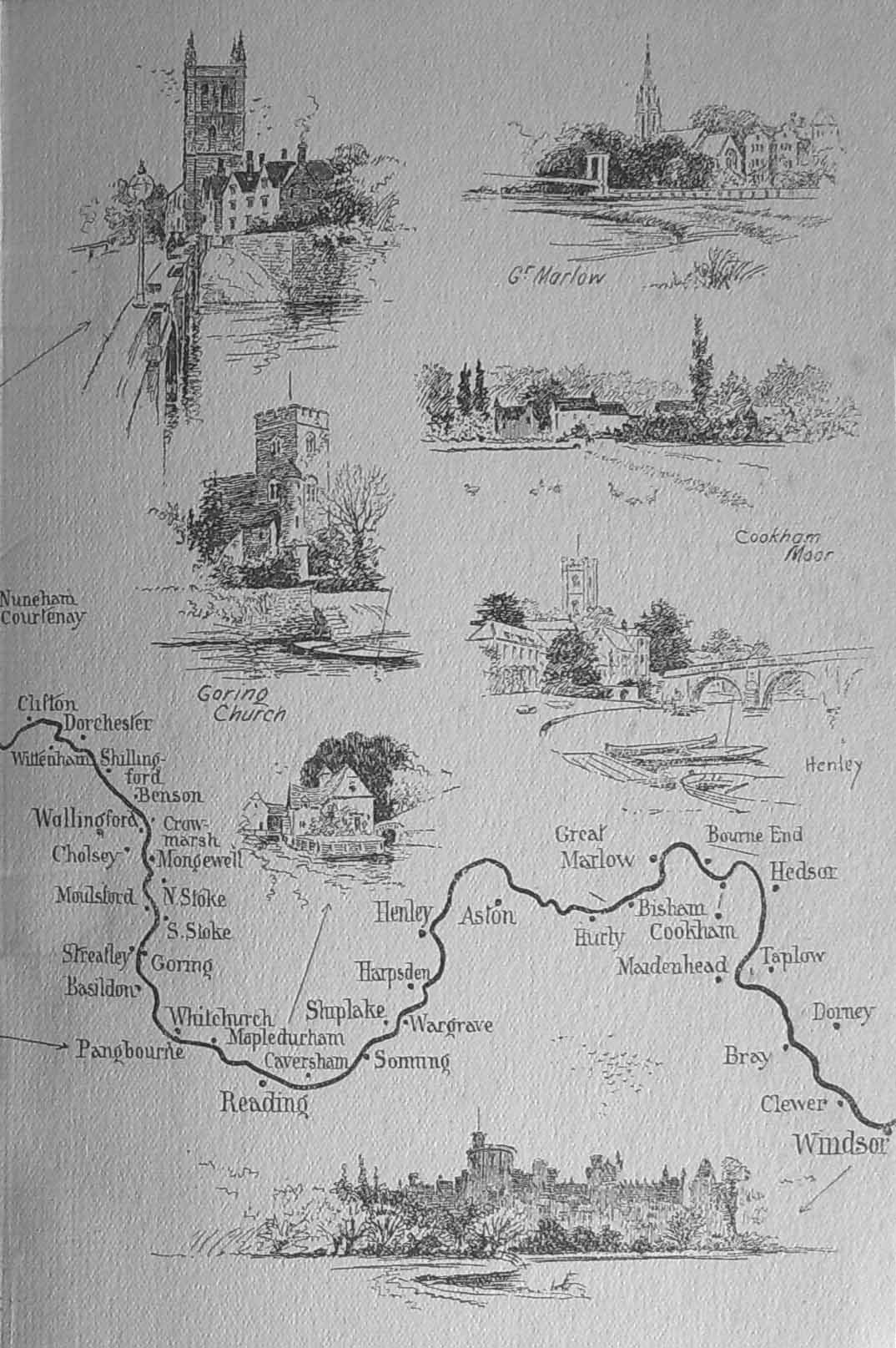 Thames Map, Higgins, 1923