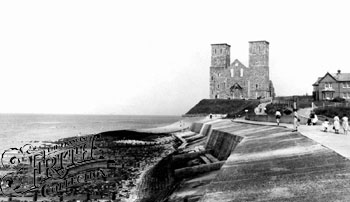 Reculver Towers, Francis Frith, 1955