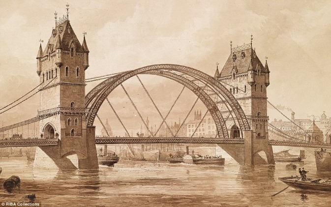 Tower Bridge first design 1878