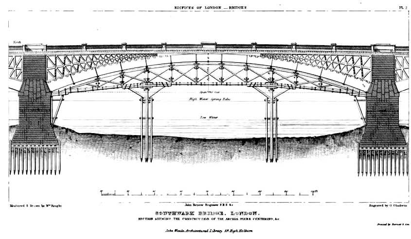 Image result for southwark bridge drawing
