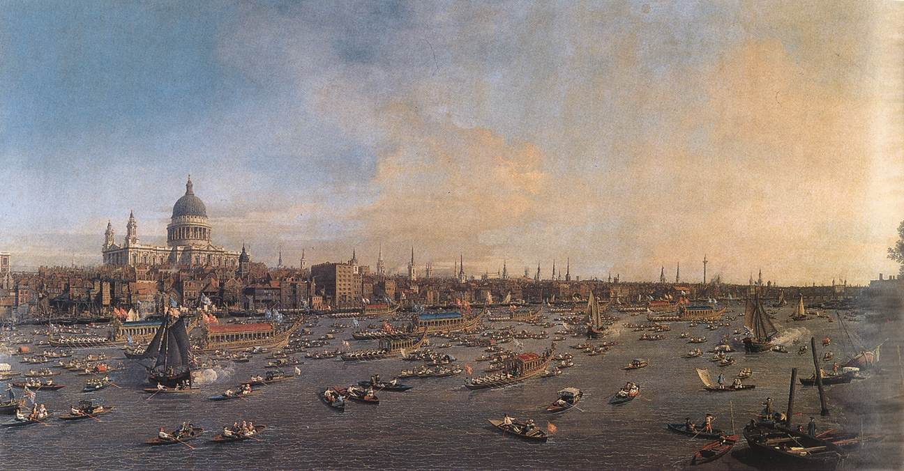 The Thames and the City, Canaletto