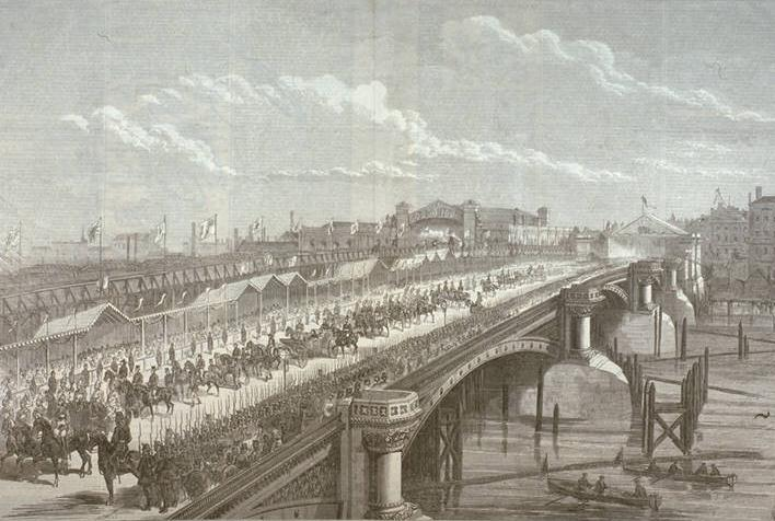Blackfriars Bridge Opening? and Railway Bridge