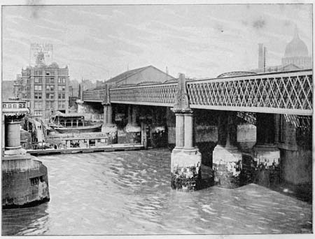 Blackfriars Railway Bridge,James Dredge, 1897