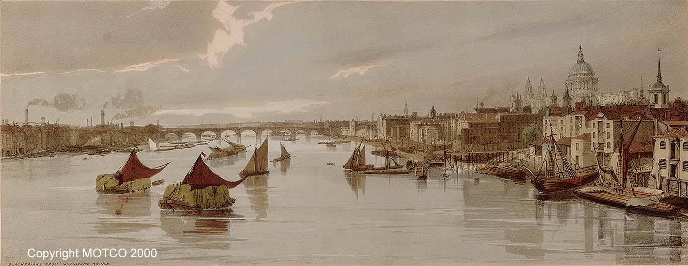 Blackfriars' from Southwark Bridge, Thomas Shotter Boys © MOTCO
