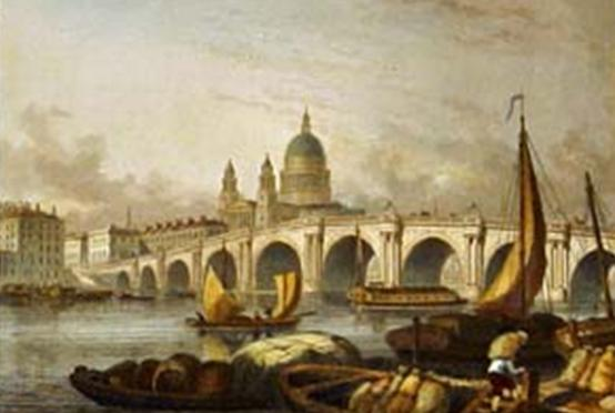 Blackfriars' Bridge, Tombleson, 1836
