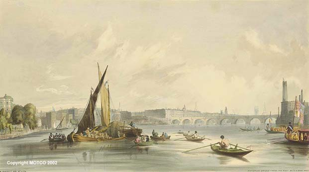 Waterloo Bridge from Upstream 1841
