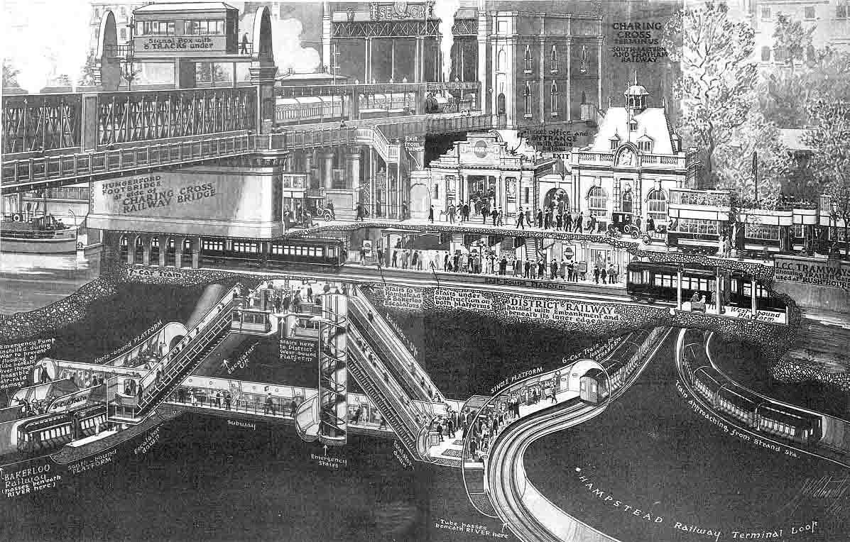 Hungerford Charing Cross Railway Bridge WHERE THAMES SMOOTH