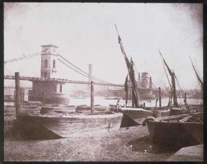 Hungerford Suspension Bridge, photograph by Fox Talbot 1845