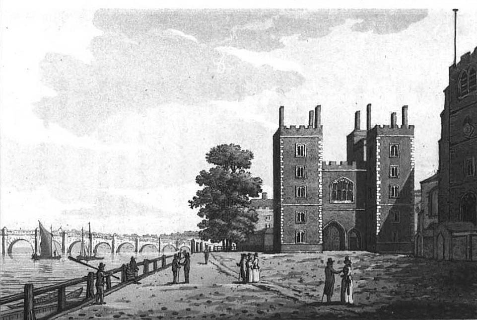 Lambeth Palace 1792, Ireland