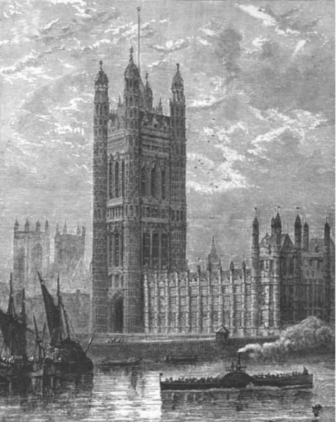 THE VICTORIA TOWER, HOUSES OF PARLIAMENT, 1882