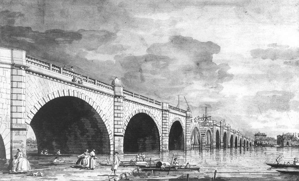 Westminster Bridge construction, Canaletto