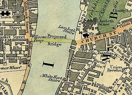 Proposed Lambeth Bridge 1827