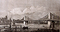 Lambeth Suspension Bridge, 1862