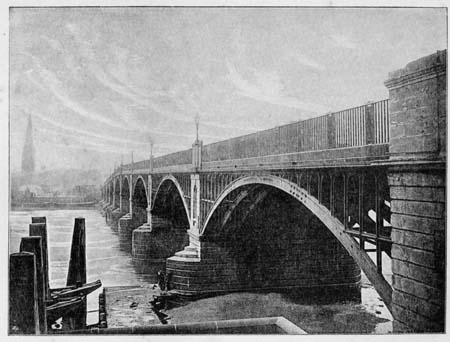 OLD (1816) Vauxhall Bridge, James Dredge, 1897
