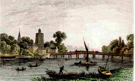 Battersea Bridge, 1835-45, Dugdale