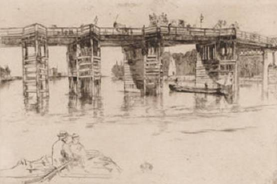 Old Putney Bridge, Whistler, 1879
