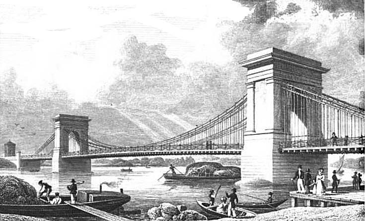 Hammersmith Suspension Bridge 1827