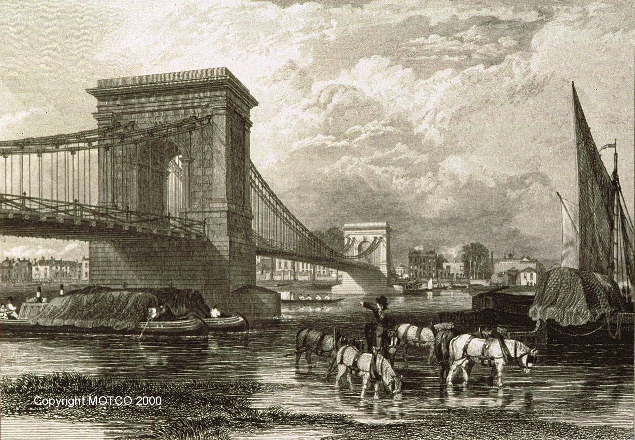 Hammersmith Suspension Bridge 1827 © MOTCO