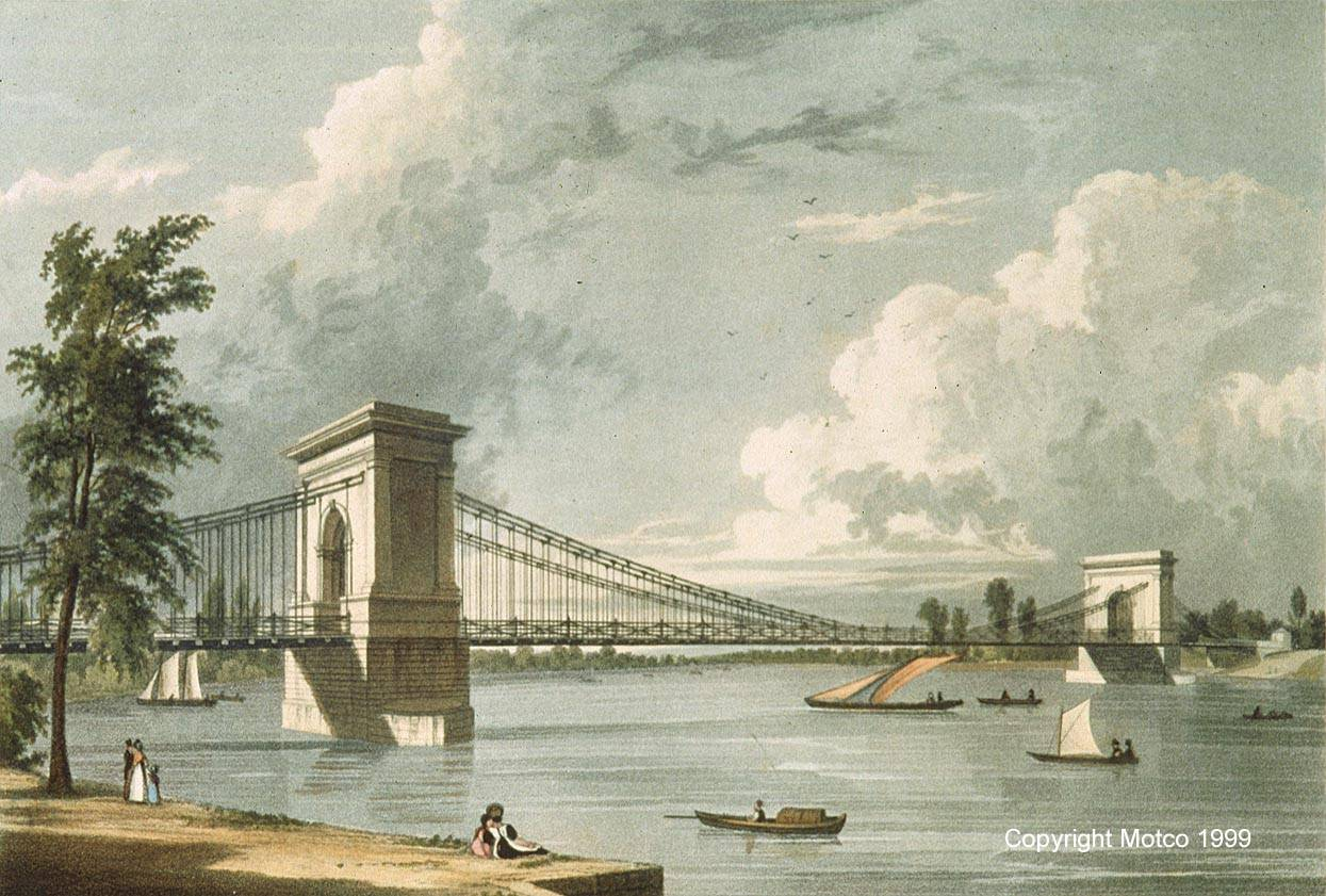 Hammersmith Suspension Bridge 1828 © MOTCO