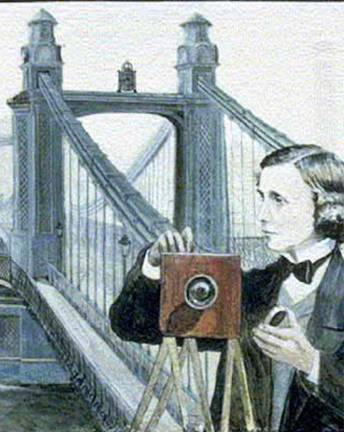 Lewis Carroll at Hammersmith Bridge