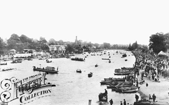 1896: View from Kingston Bridge, Francis Frith