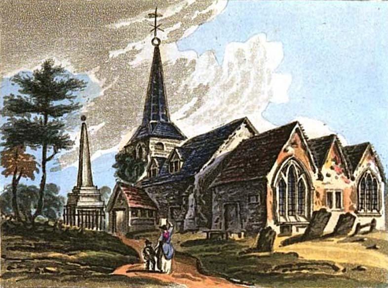 Thames Ditton Church, 1817
