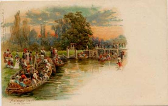 Molesey Lock, undated